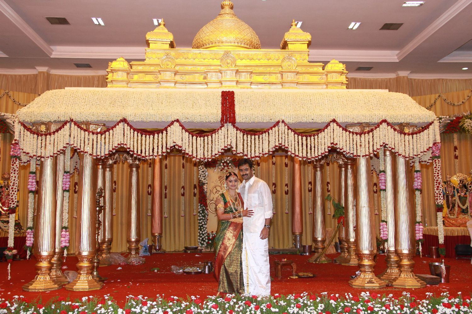 Tamil marriage reception stage decoration google search for Sample wedding decorations