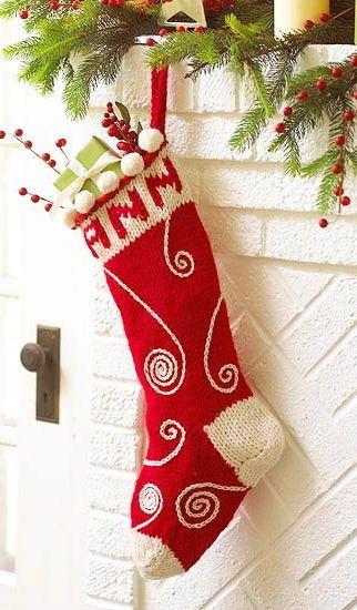 Easy Handmade Christmas Stockings Knitted Christmas