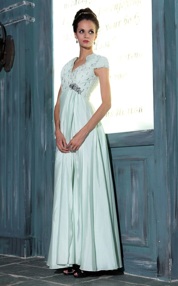 Gorgeous Short Sleeve A Line Fl Prom Homecoming Wedding Dress