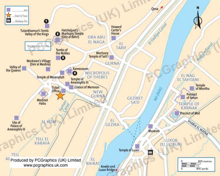 Map Of Luxor Egypt Produced By PCGraphics UK Limited Find Out - Map of egypt and uk