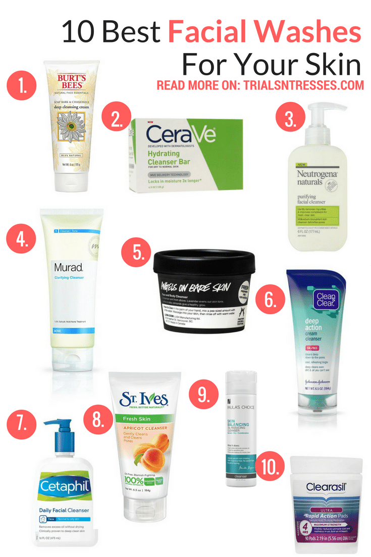 best facial washes for your skin skinproducts  Skin products