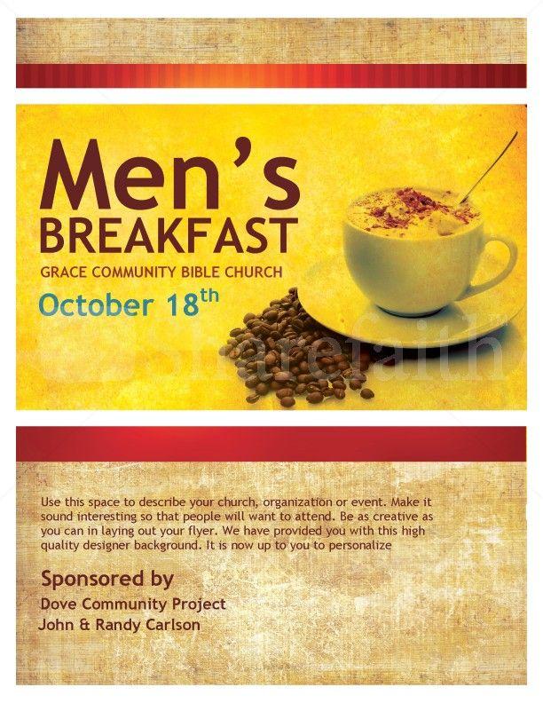Church Breakfast Clip Art | Mens Breakfast Christian Flyer ...