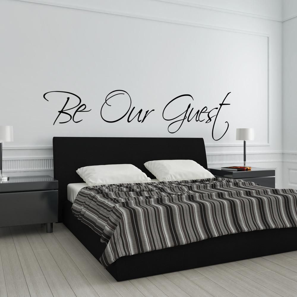 Be our guest wall decal guest room