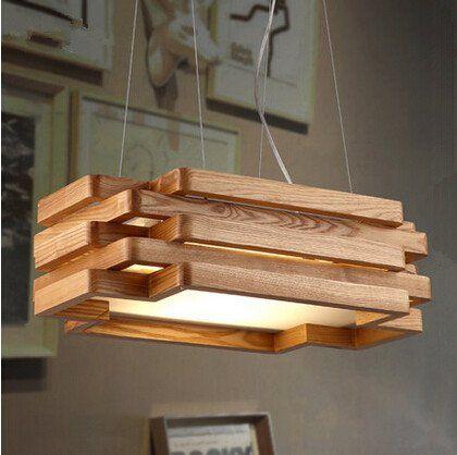 Creative Living Room Light Restaurant Cafe Rectangular Wooden Chandeliers 503014cm Clic Lampadas De Garrafa De Vinho Luminarias Modernas Lampadas De Garrafa