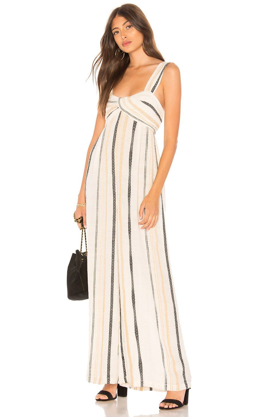 f050a421ce34 Free People Breezin Through Striped One Piece in Beige