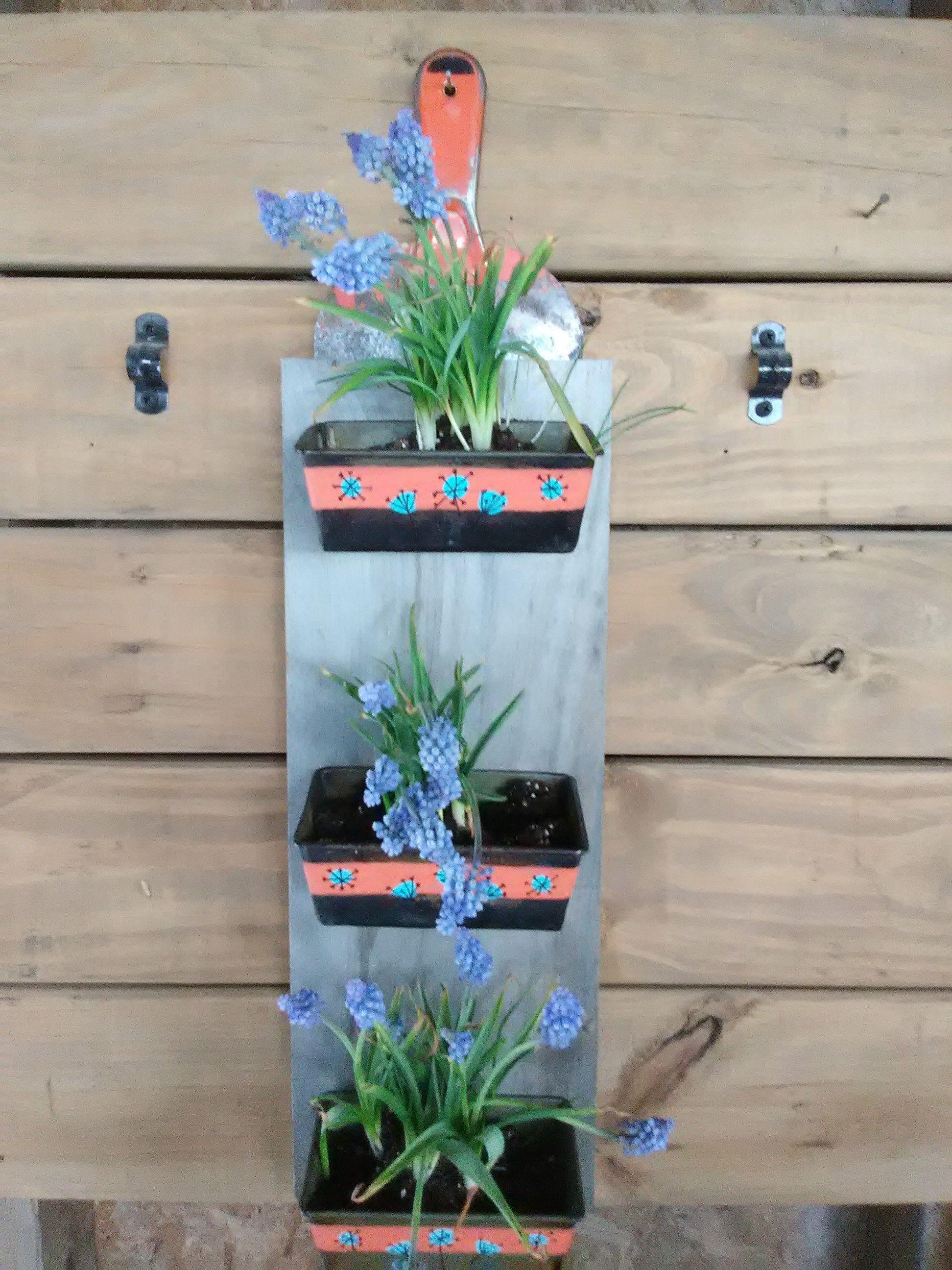 Succulent planter herb garden wall planter rustic wall planter