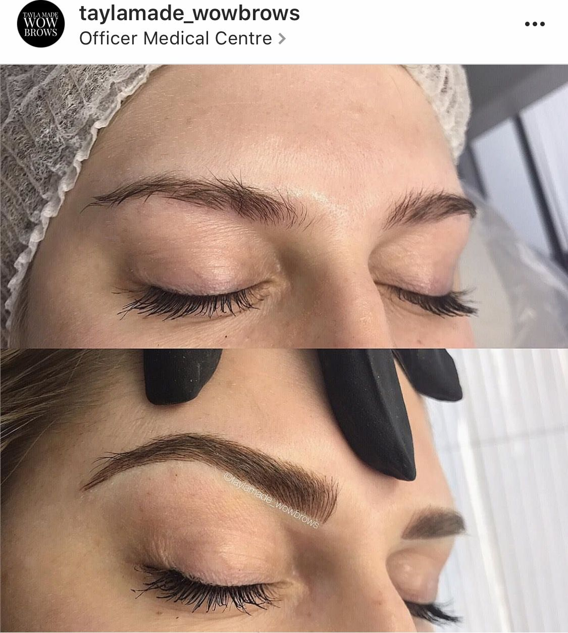 Brow tattoo melbourne hair stroke feather touch