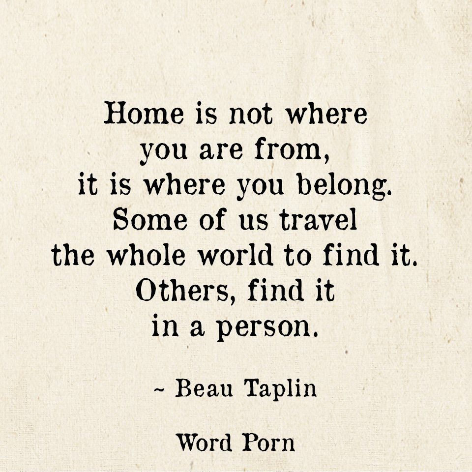 Home Is Not Where You Are From