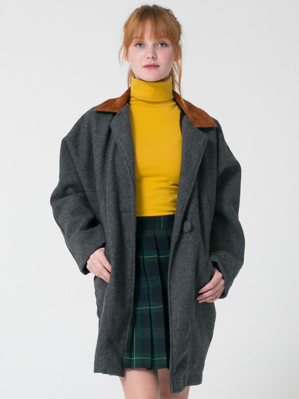 Petite Unisex Long Wool Coat | Parkas & Coats | Women's Outerwear ...