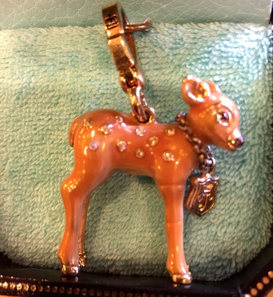 2006 JUICY COUTURE FAWN CHARM WITH COLLAR YJRU0830 VHTF!! #JuicyCouture #Traditional