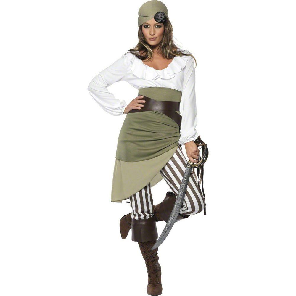 Piratenkostüm Damen Piratin Kostüm Piratenbraut Seeräuberin ...