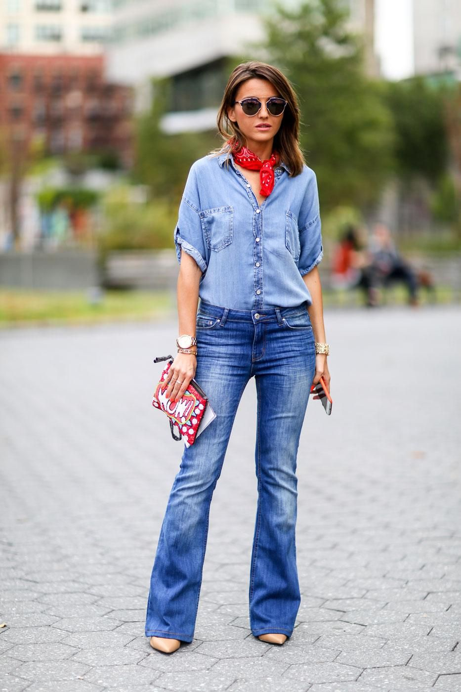 95 Killer Outfits To Copy from Fall 2015 New York Fashion Week - Denim flares