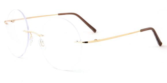 Unisex rimless memory metal eyeglasses