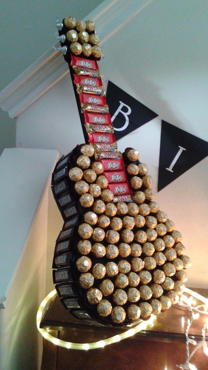 Chocolate guitar diy anniversary gift chocolate gifts