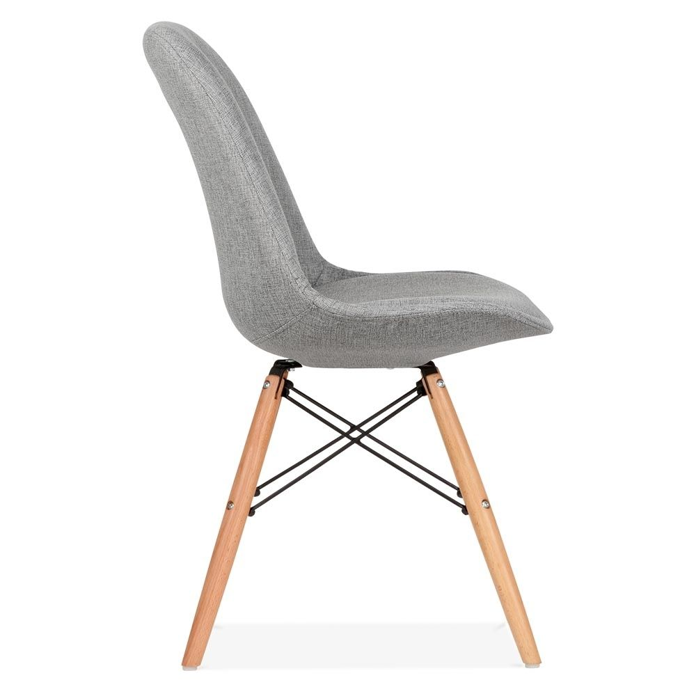 Eames Inspired Upholstered Dining Chair With Dsw Style