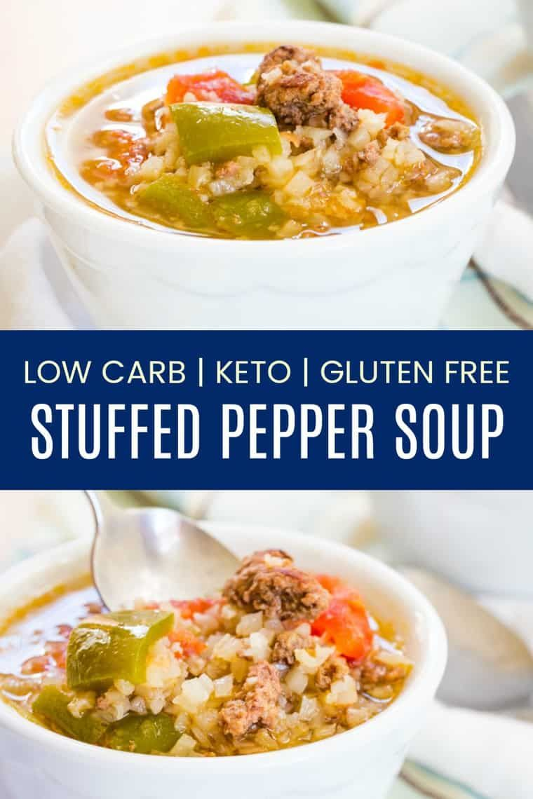 Keto Stuffed Pepper Soup Easy Low Carb Comfort Food With Directions To Make It In An Instant Pot Cr In 2020 Stuffed Peppers Stuffed Pepper Soup Keto Stuffed Peppers