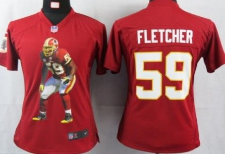 nfl game jersey nike washington redskins 59 london fletcher printed portrait red womens jersey nike jerseys for