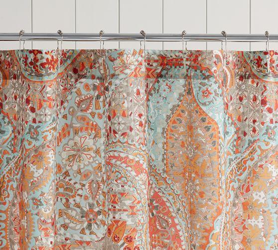 Paloma Print Organic Shower Curtain Vinyl Shower