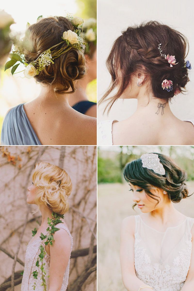 totally chic ontrend ways to style your bridal bob messy updo
