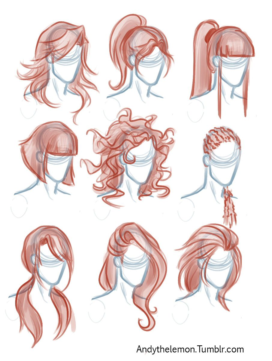 Character Design Reference Photos : I adore drawing hair really love the designs here