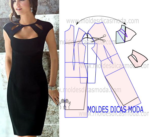 PASSO A PASSO MOLDE DE VESTIDO MANGA JAPONESA | Dresses, skirts ...
