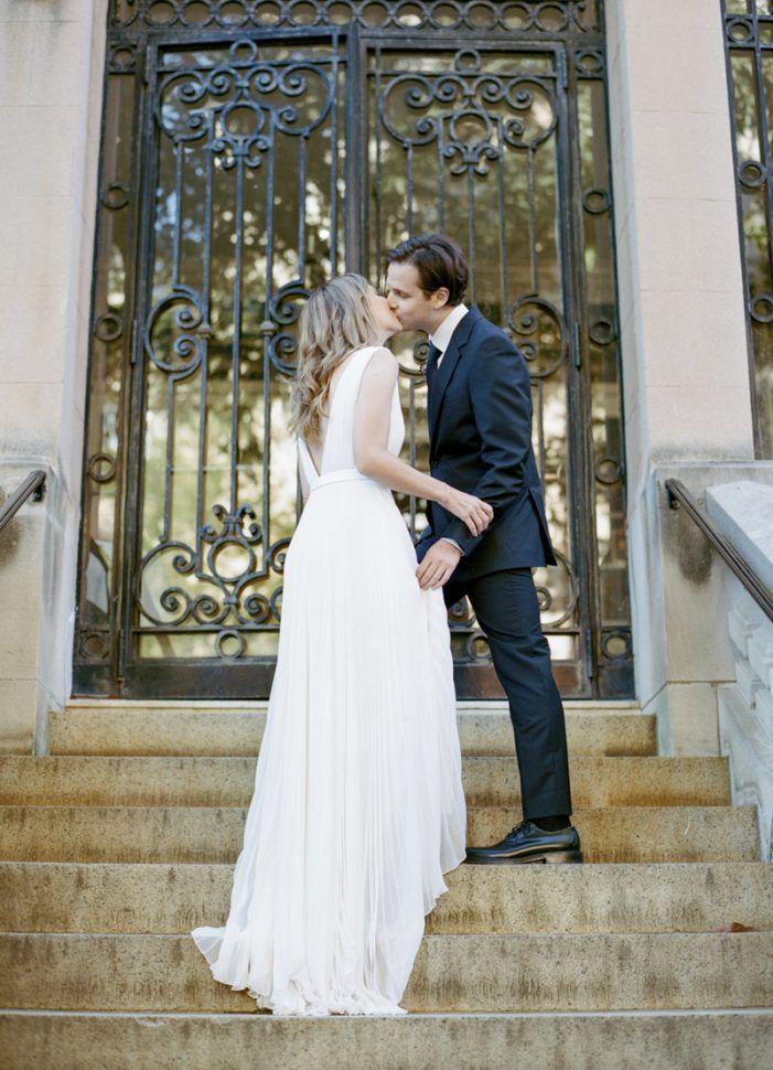 Custom Jason Wu Bridal Dress Deep V Back Lisa Blume Photography
