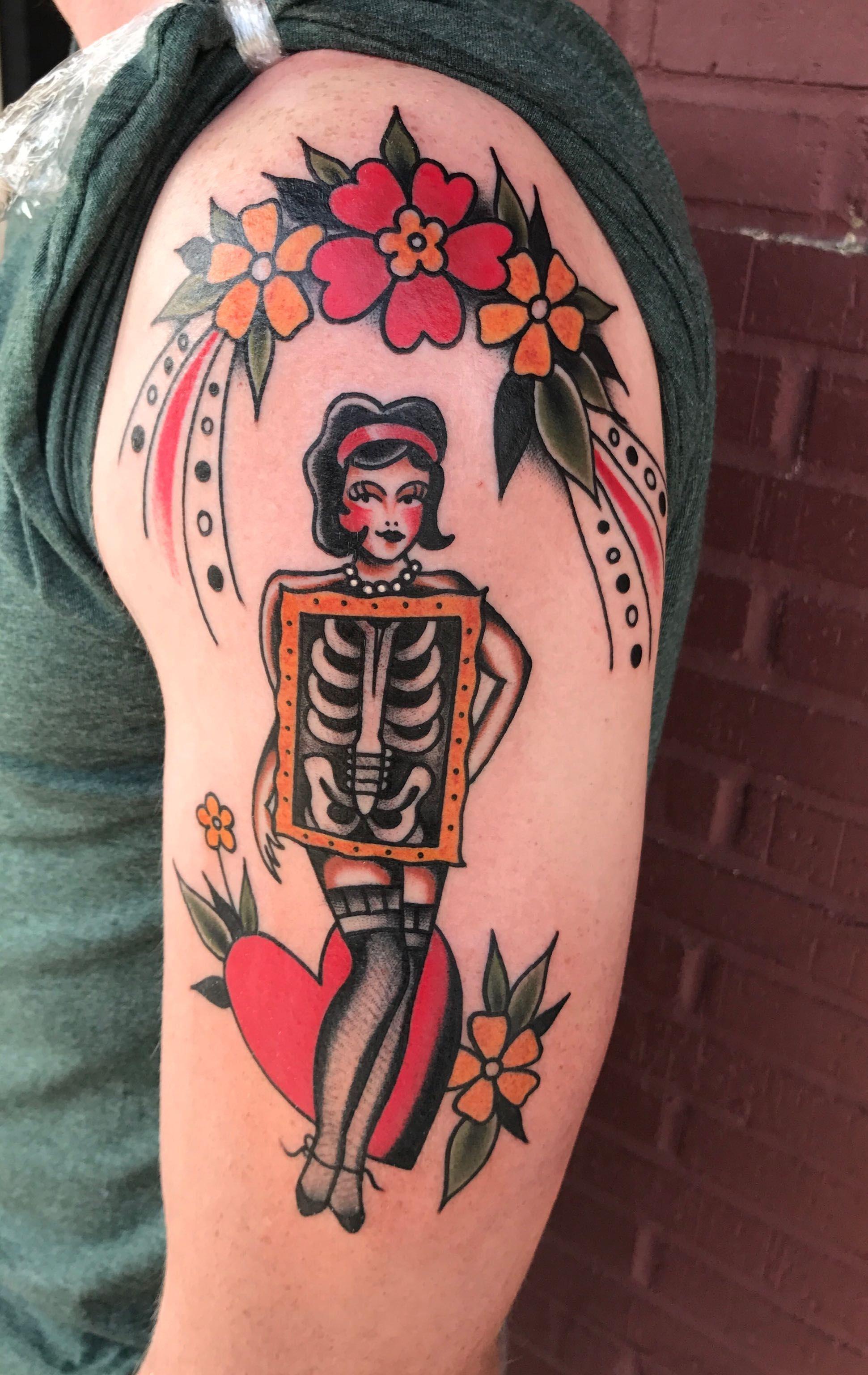 600b6e637984d X-ray Pinup by Ali @ Amulet Tattoo St. Petersburg, Fl | Tattoo Ideas ...