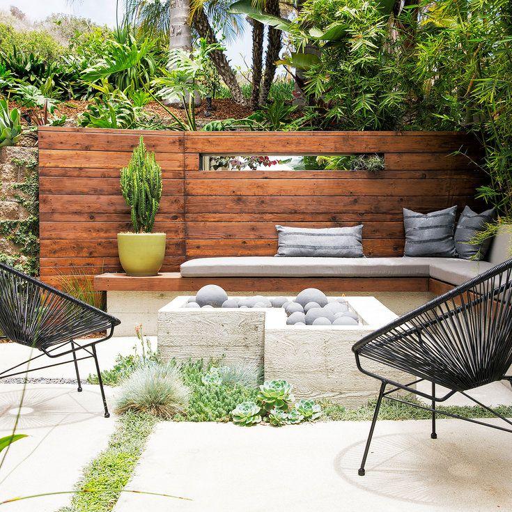 Create A Sunken Patio Retaining Wall Ideas Sunset Small Backyard Landscaping Sunken Patio Patio Design
