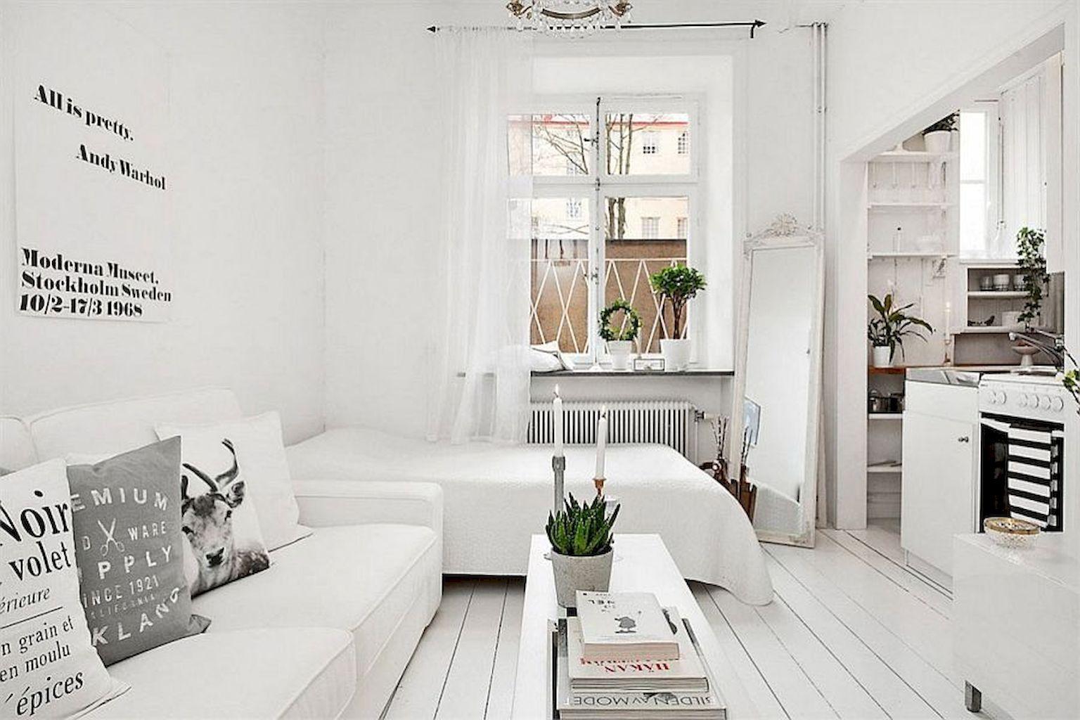 65 Stylish Scandinavian Studios Apartment Decorating