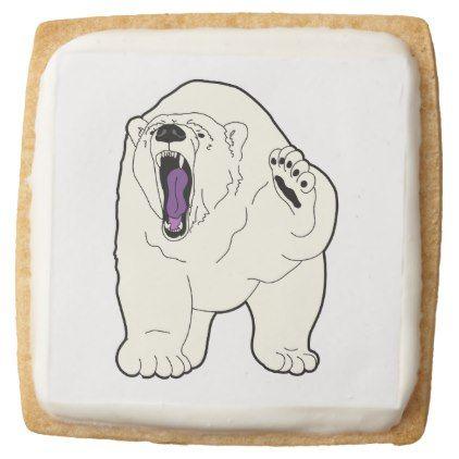 atlas the friendly polar bear square shortbread cookie zazzle com rh pinterest com
