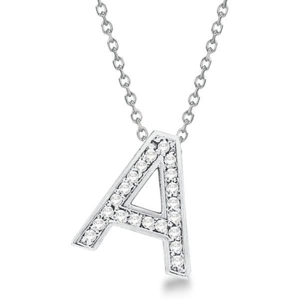 Allurez Custom Tilted Diamond Block Letter Initial