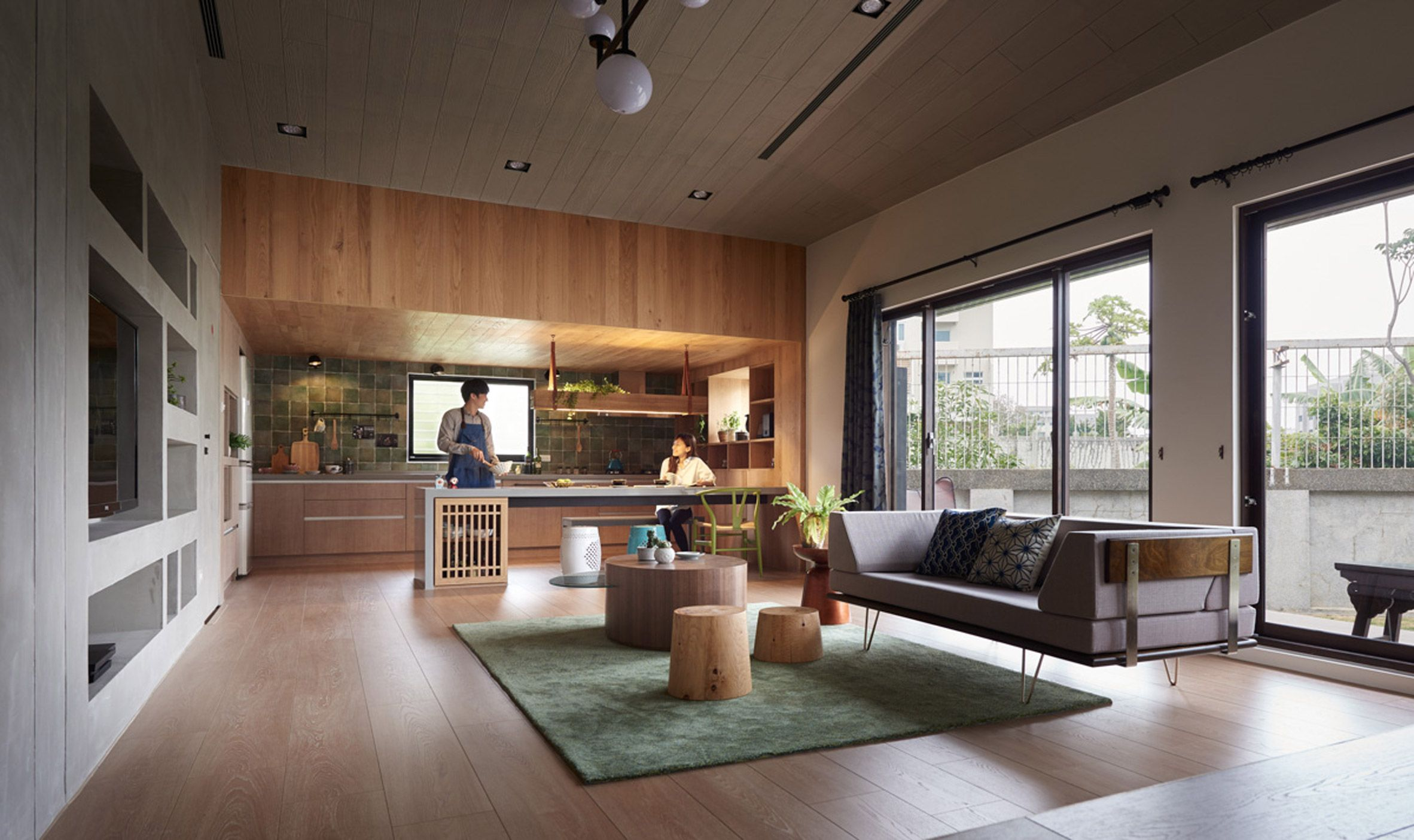 HAO Design rearranges Taiwanese home to put