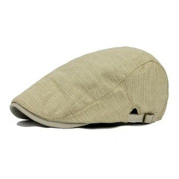 Vintage Men's Cotton Beret Cap Casual Newsboy Hats