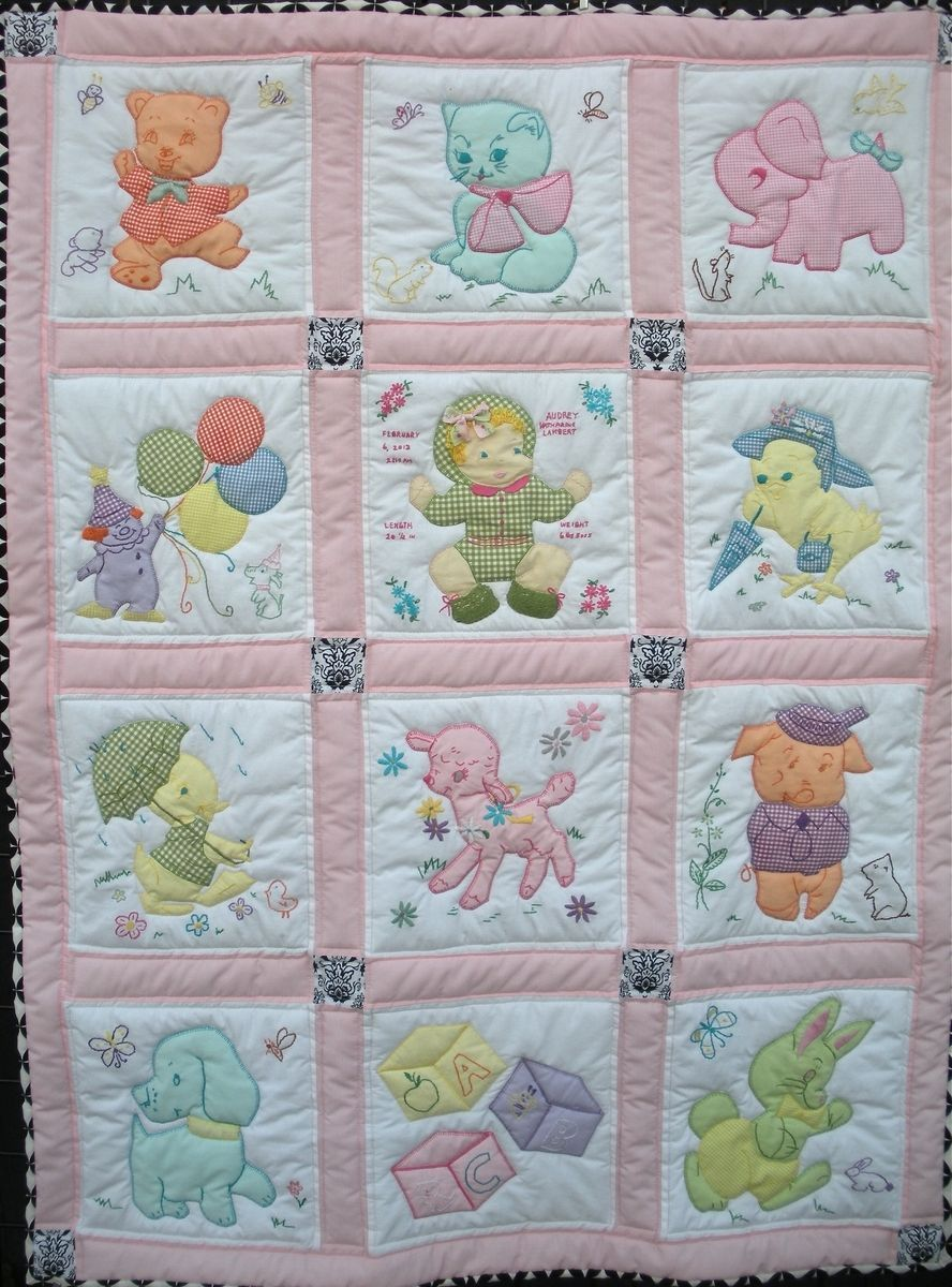 Hand Quilting Patterns For Baby Quilts : Custom Made Vintage Baby Quilt Baby Pinterest Quilt baby, Baby quilts and Children s quilts