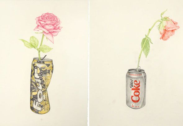 "Aurel Schmidt's ""Four Lokoi"" 2011, and ""Diet Coke"" 2010 (From W Magazine)."