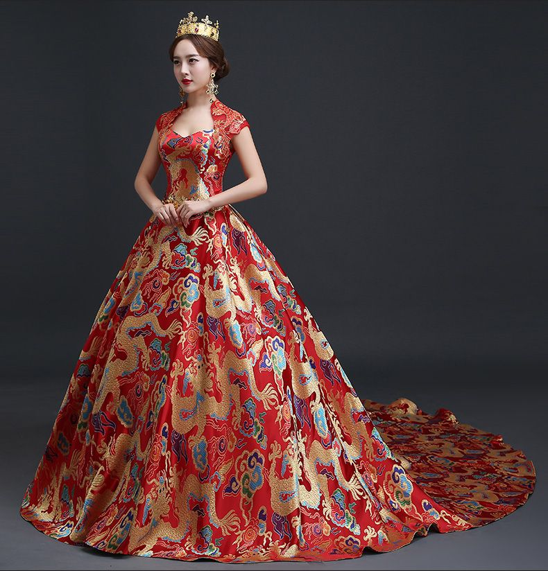 Luxury Royal Wedding & Events Chinese Style Dress Oriental