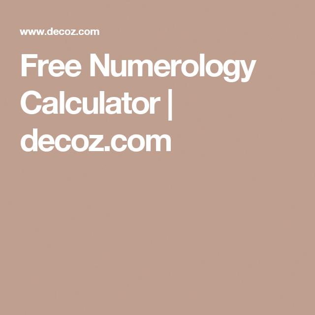 Free Numerology Calculator numerologyhumor