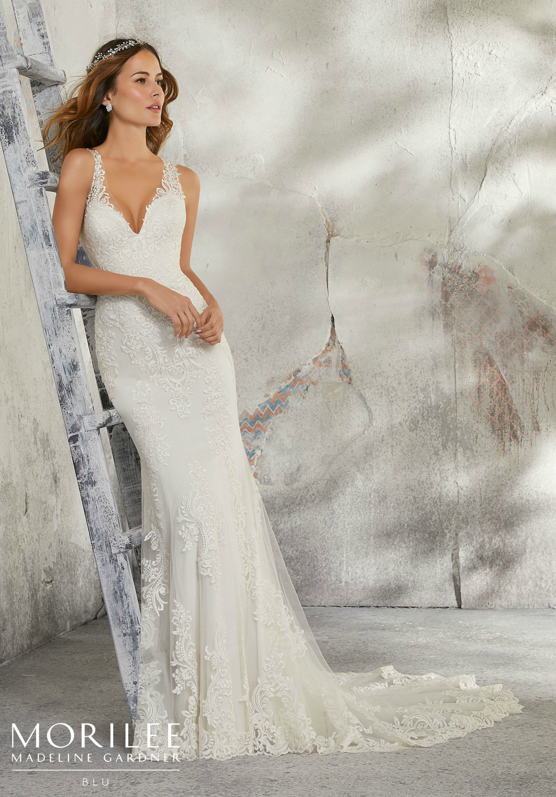 Mori lee madeline gardner wedding dress  Leia Wedding Dress  Blu Fall u  Morilee by Madeline Gardner