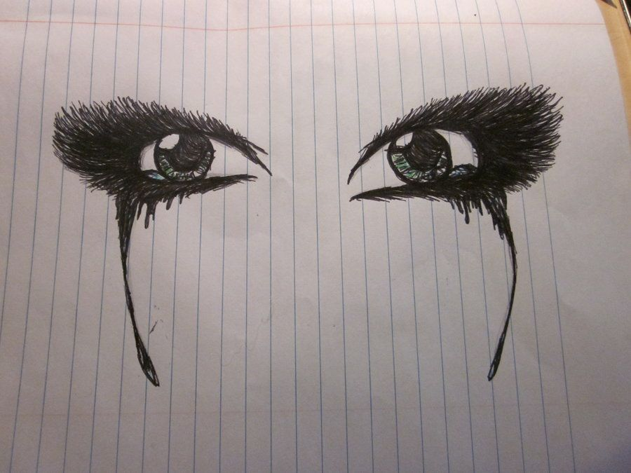 how to draw anime eye tears