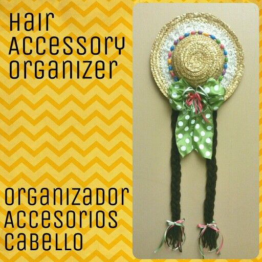 Hair Accessory Organizer. An easy way to put all your bows and hair clips.