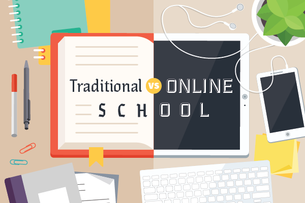 Online School vs. Traditional School | Which is best? | Online school, Online  teaching, Classroom learning