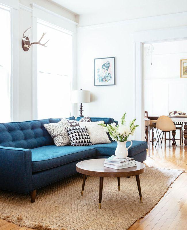minimalist vintage sofas home decor san francisco houses blue rh pinterest ca