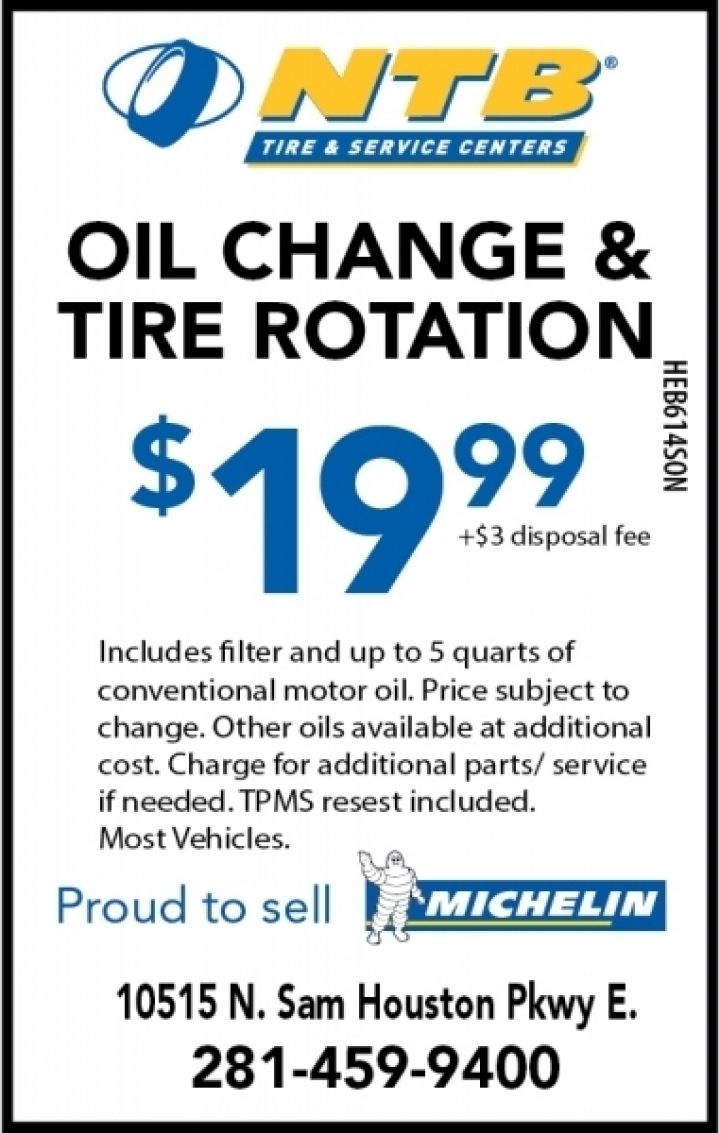 19 99 Oil Change Tire Rotation Ntb Tire Service Centers