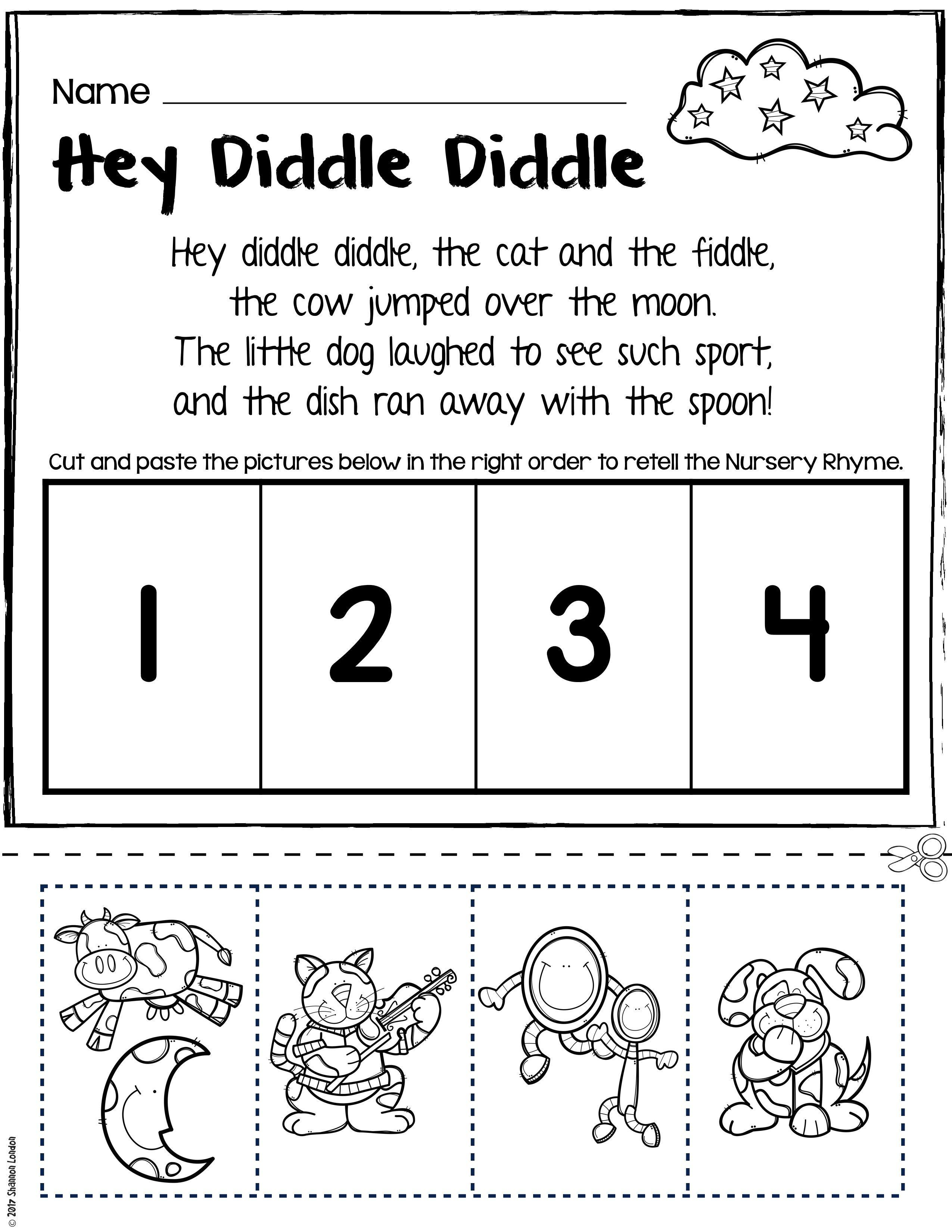 Teach Story Retelling With Nursery Rhymes Rhyming Worksheet Nursery Rhymes Preschool Activities Rhyming Words Worksheets [ 3300 x 2550 Pixel ]