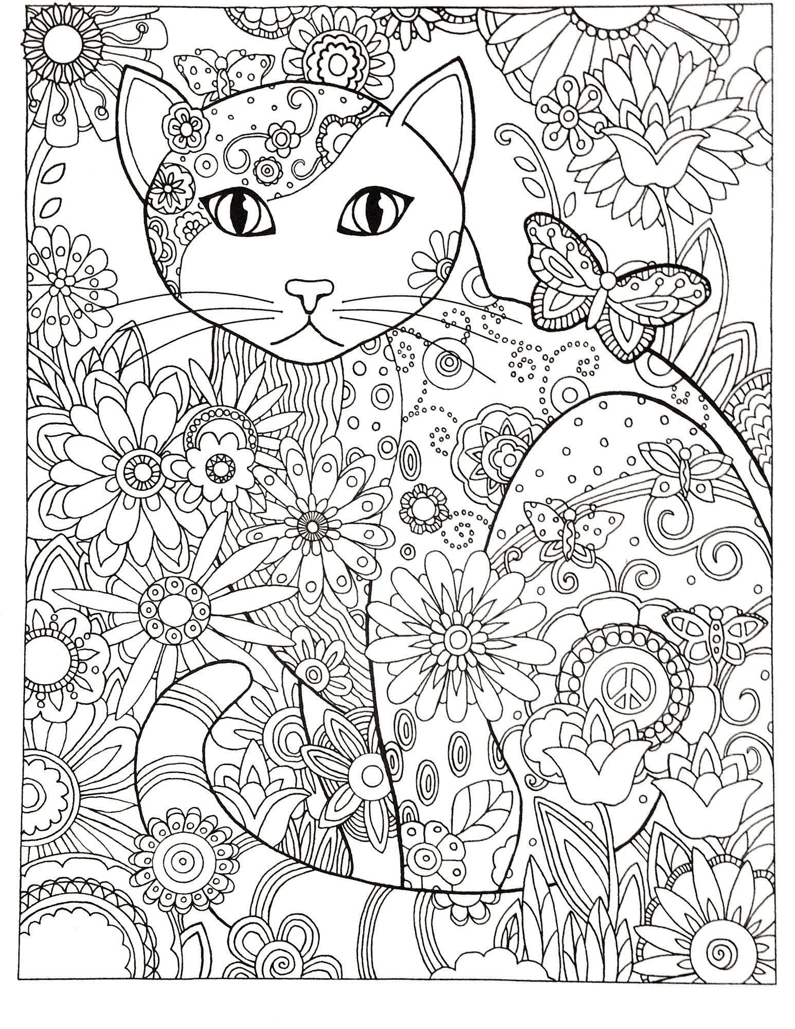 Katzen Ausmalbilder Mandala : Pin Von Michelle Schmidt Auf Coloring Pages Pinterest