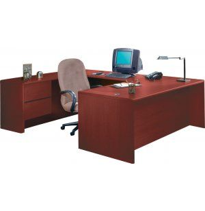 HON U-Shaped Office Desk w/Left Pedestal Credenza. Renovating, redecorating or updating your workspace? Hertz Furniture offers a variety of office furniture pieces that will fit your needs and budget. http://www.hertzfurniture.com/office-furniture.html