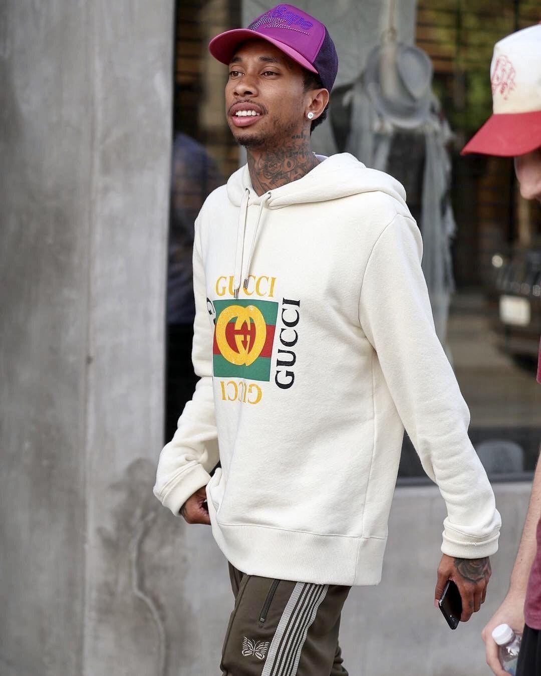 60d0d481a8c Tyga Wears a Gucci Hoodie