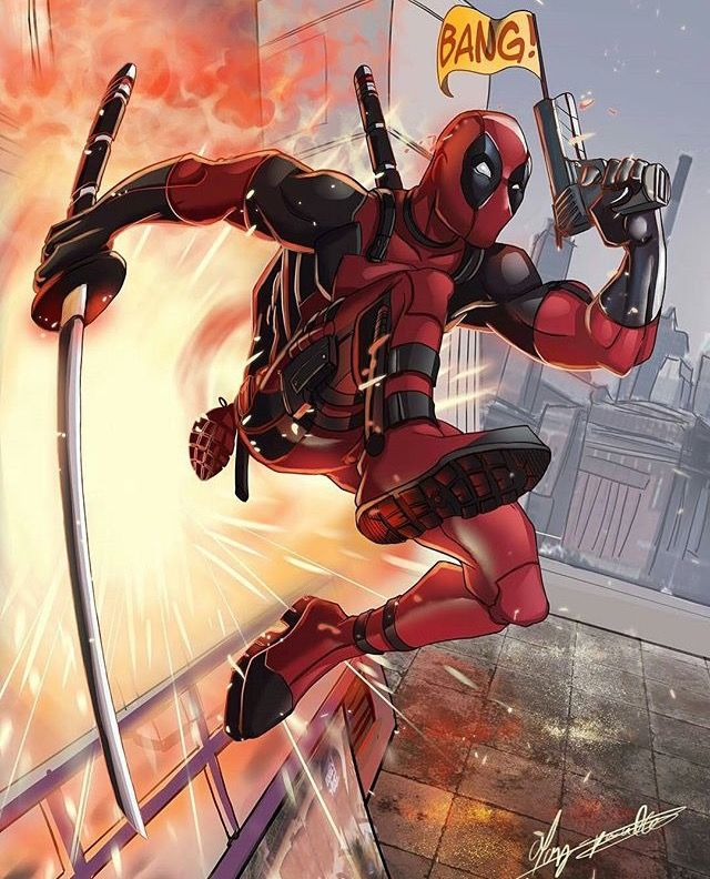 Bang Deadpool Maxi Poster 61cm x 91.5cm new and sealed