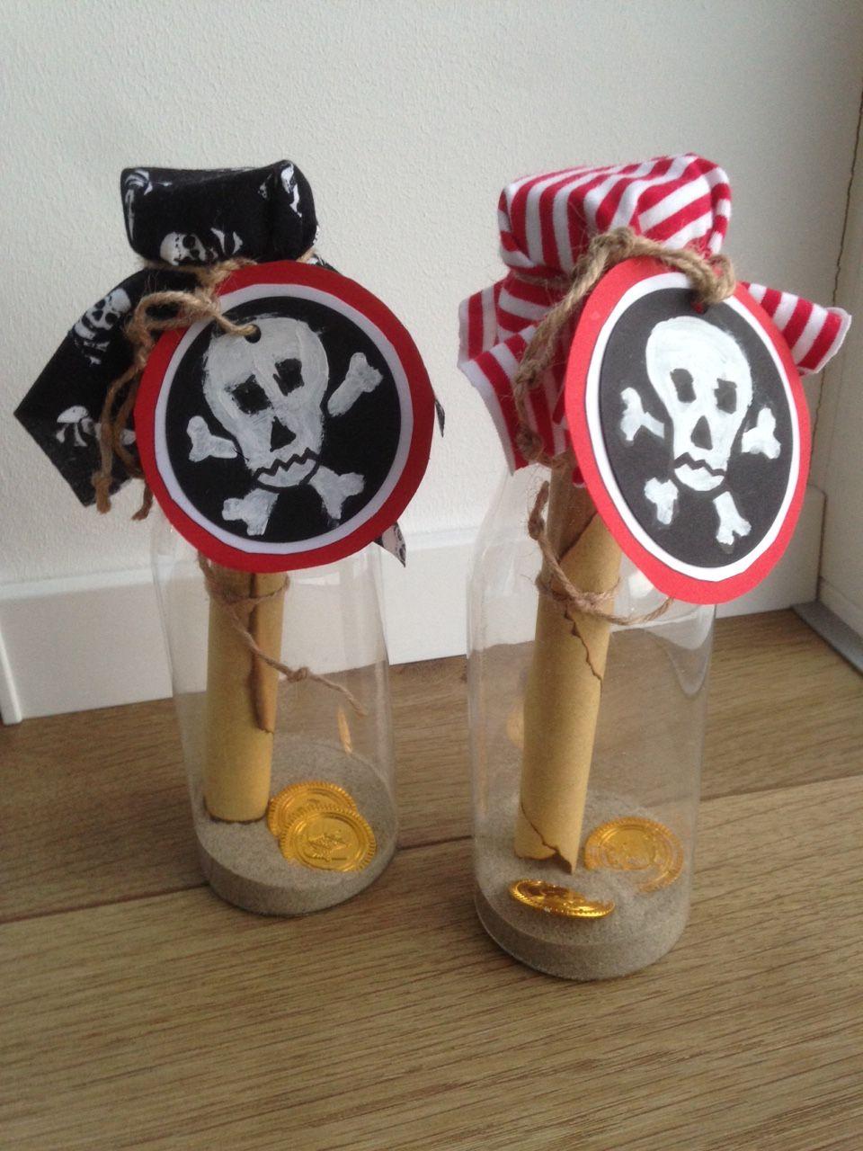 Fertige Piratenparty Einladung Für Den Kindergeburtstag. Die Flaschenpost  Ist Natürlich Persönlich An Alle Piraten Verteilt