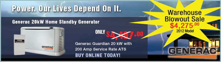 Generac 5875 Home Standby Generator Blowout Sale The Generac Guardian Series Of Standby Generators Are D Norwall Standby Generators Backup Generator